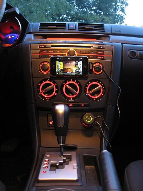 Iphone 3g Car Integration In Mazda 3 Sport 2007 Mazda 3