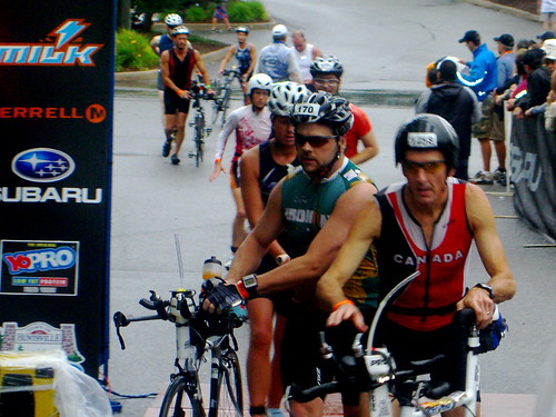 IM Muskoka 70.3 - heading out on the bike | by dfeather