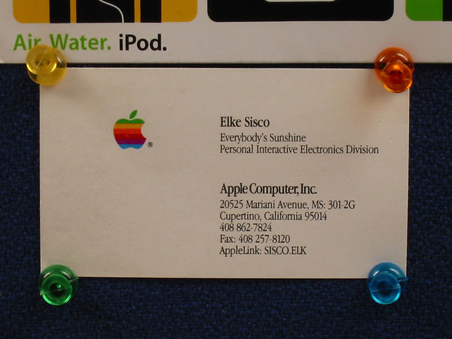 apple business card | apple business card | Max Jim | Flickr