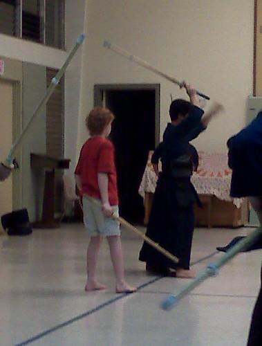 Kendo class connor with sensei ushiro sensei ushiro is for Kendo dojo locator
