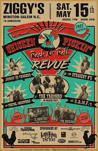 Chicken Pickin Rockabilly Poster | Flickr - Photo Sharing!: https://flickr.com/photos/30270724@n02/3149718832