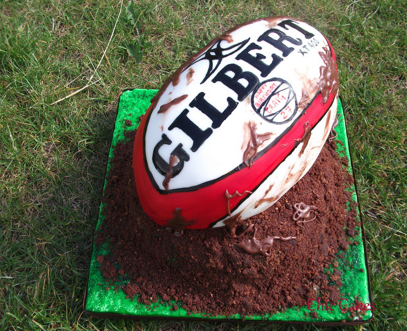 Another Rugby Ball Cake Another Request For The Mud