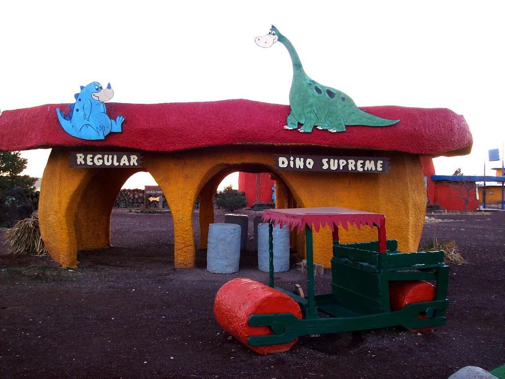 Regular Or Dino Supreme Fill Er Up At Bedrock City Ariz