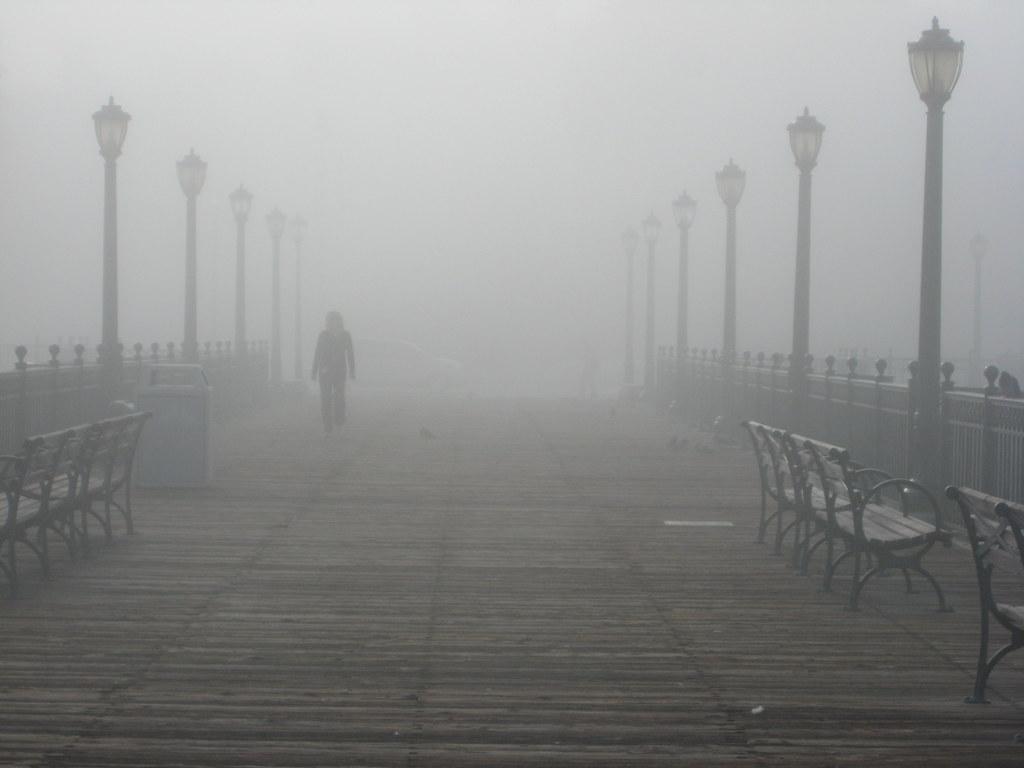 Stock Foggy Pier Seven A Foggy Day Along The San
