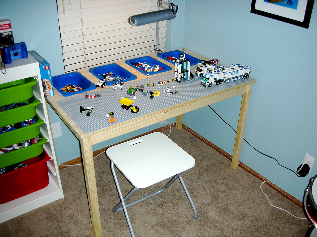 Lego Table Made From Ikea Parts | Following ideas from