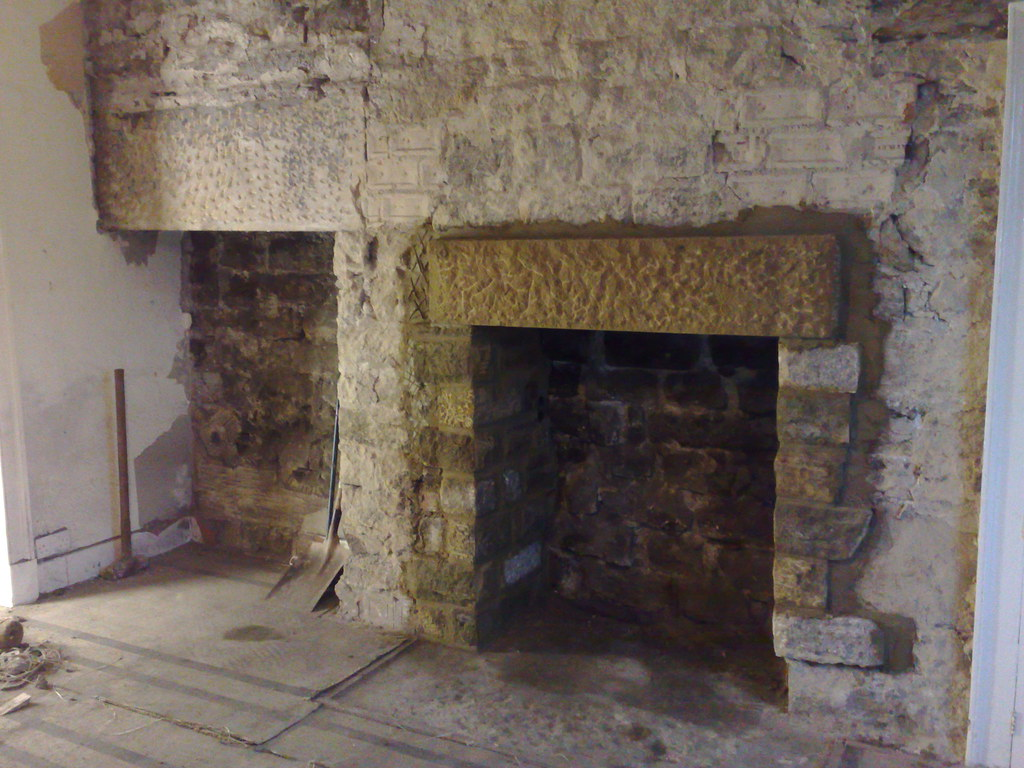 New Fireplace In The New Lintel And Stone Work Around The Flickr