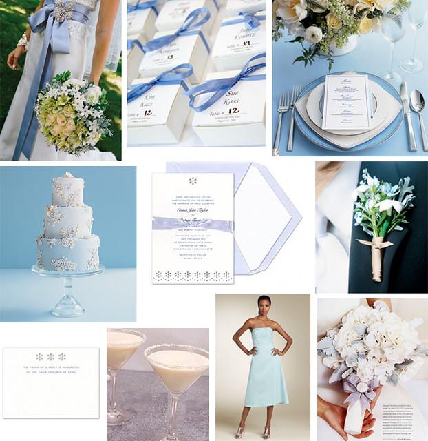 Light Blue Wedding Ideas: Wedding Wednesday - Light Blue Eyelet Wedding