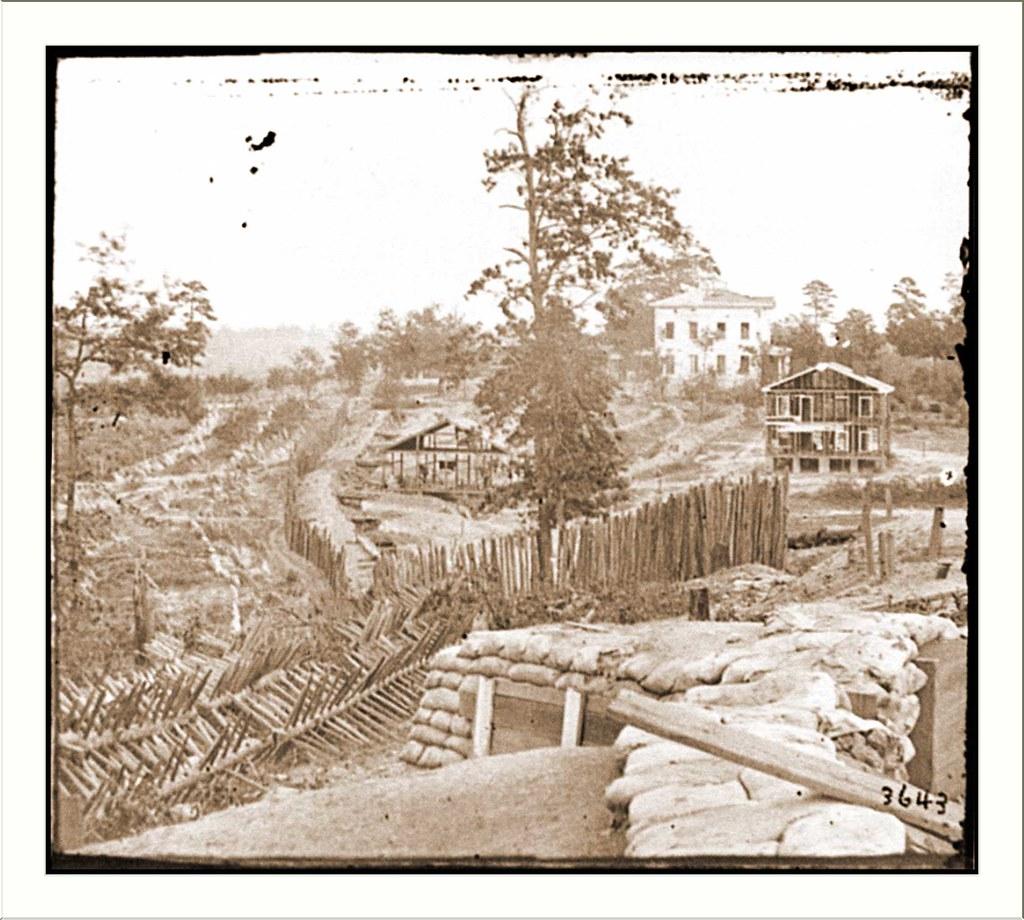 Atlanta ga confederate palisades and chevaux de frise ne - Chevaux de frise ...