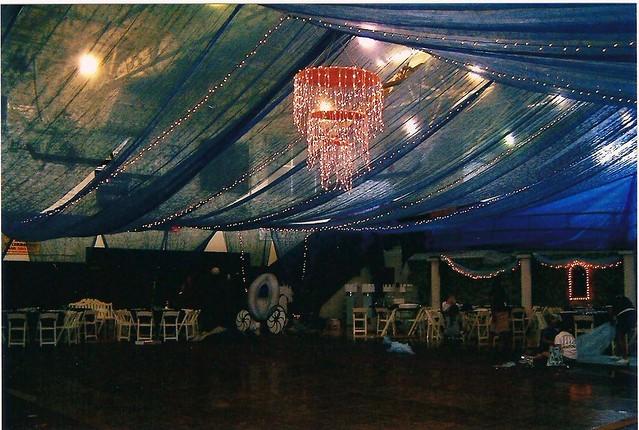 Blue Gossamer Ceiling Prom Drop Ceiling In Gym Flickr