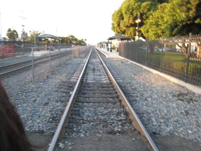 train tracks and orange1 - photo #30