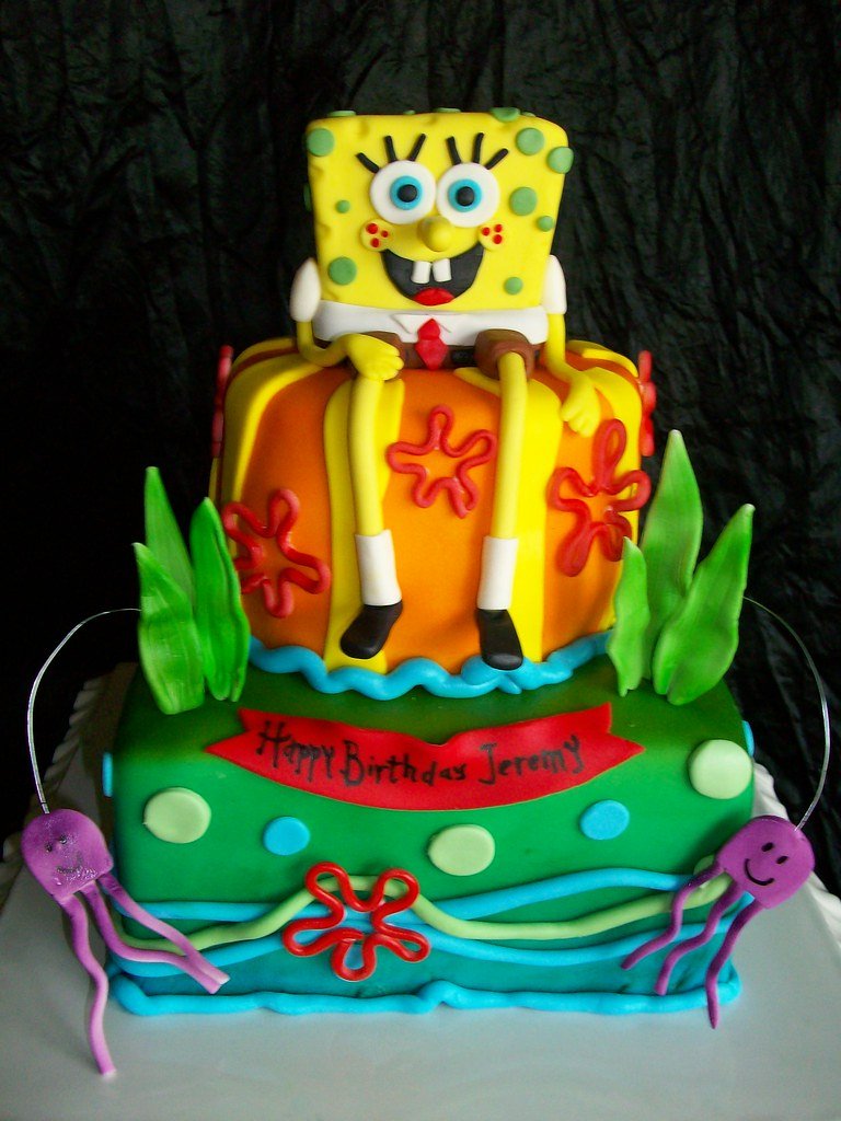Spongebob I Made This Cake Yesterday Morning For My Son