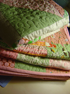 Pink & Green Quilts - almost done! | by alissahcarlton