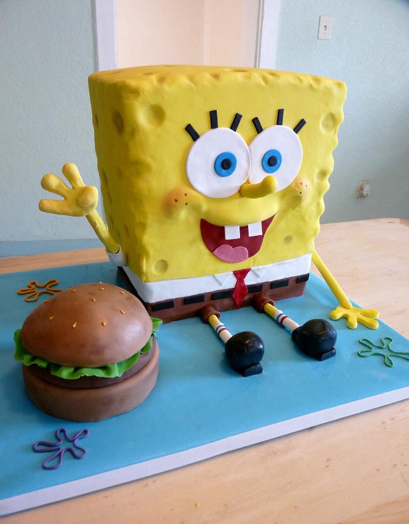 Fondant Spongebob Cake