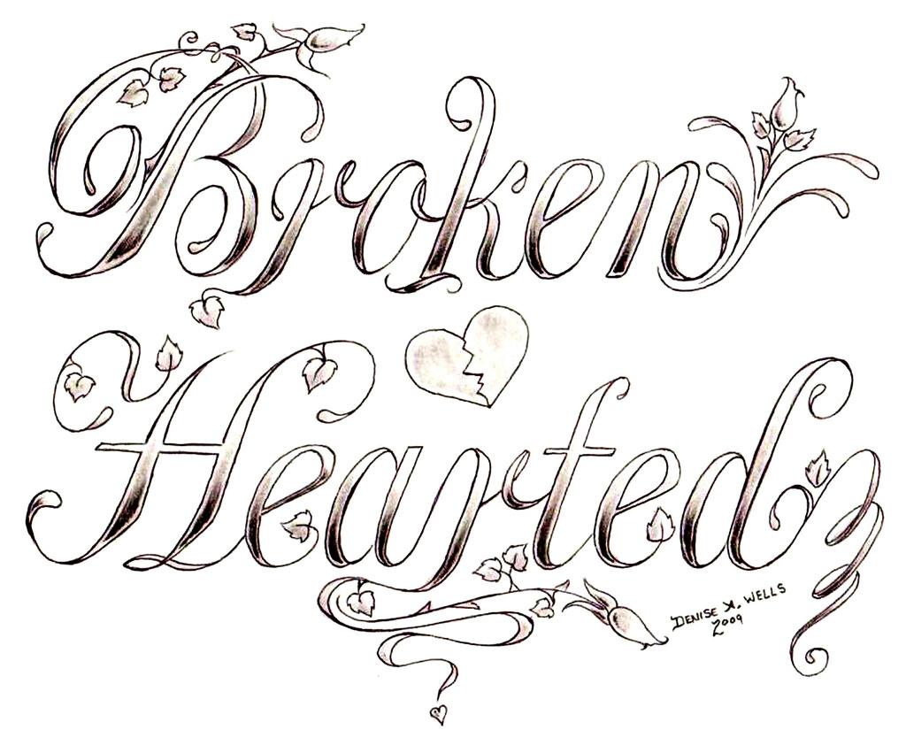 quot Broken Hearted quot Tattoo design