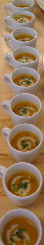 Spicy Carrot Soup with Creme Fraiche and Chive Oil | Flickr