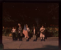 Children in costumes with flags at Jones Park | by George Eastman House