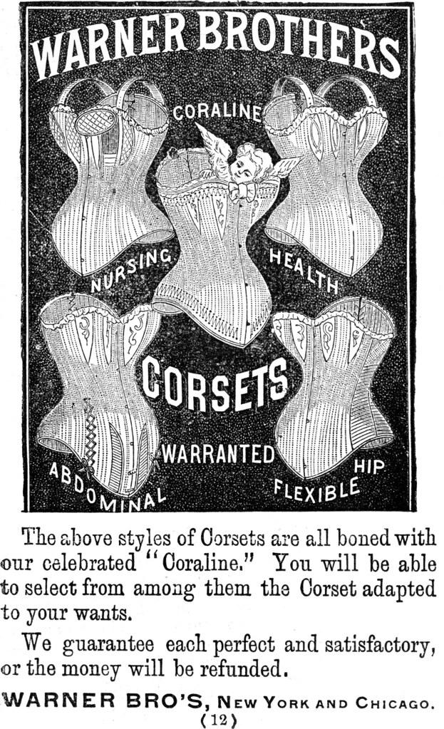 vintage corset ad
