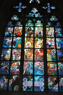 Prague St. Vitus Cathedral - The Mucha window | by mbell1975