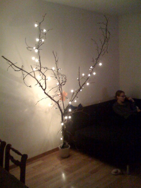 alternativer weihnachtsbaum ein ast aus dem wald eine. Black Bedroom Furniture Sets. Home Design Ideas