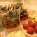 Macro des verrines et tartelettes
