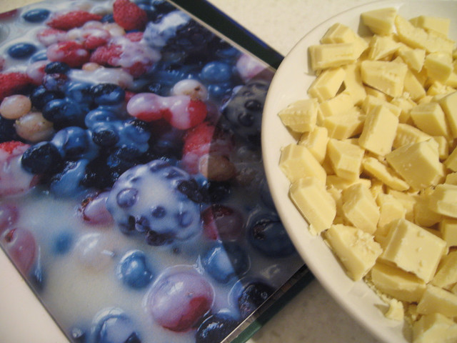 Frozen berries & hot white chocolate sauce | from The Ivy co ...