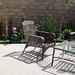 backyard living space+patio+before