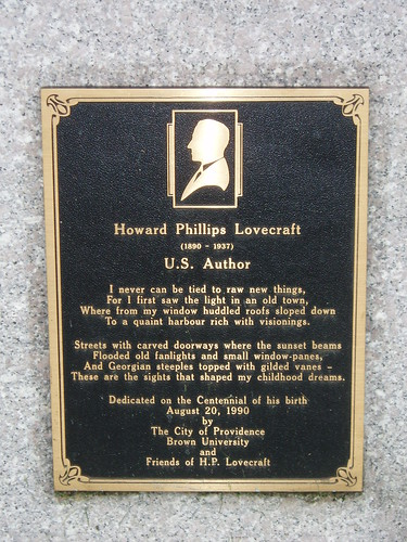 The H.P. Lovecraft Memorial Plaque 2