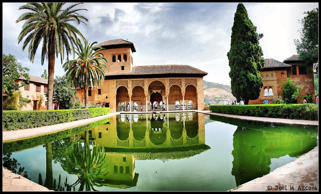Granada la alhambra torre de las damas y jardines de el for Jardines de gomerez granada