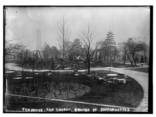 Tea House, Kew Gardens, destroyed by suffragettes  (LOC) | by The Library of Congress