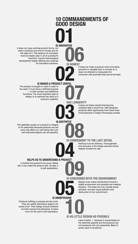 the ten commandments of design