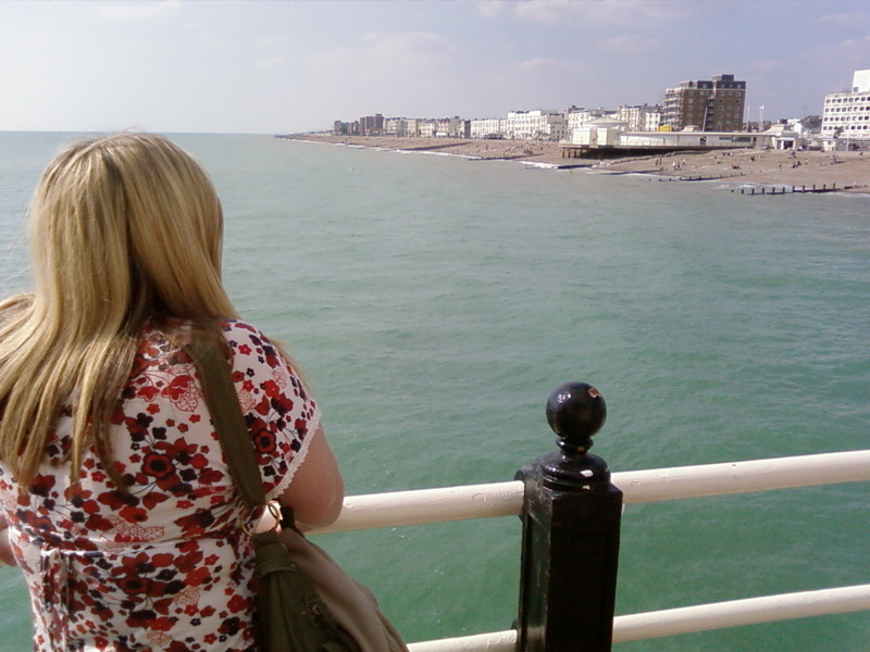 Worthing pier, and the wife