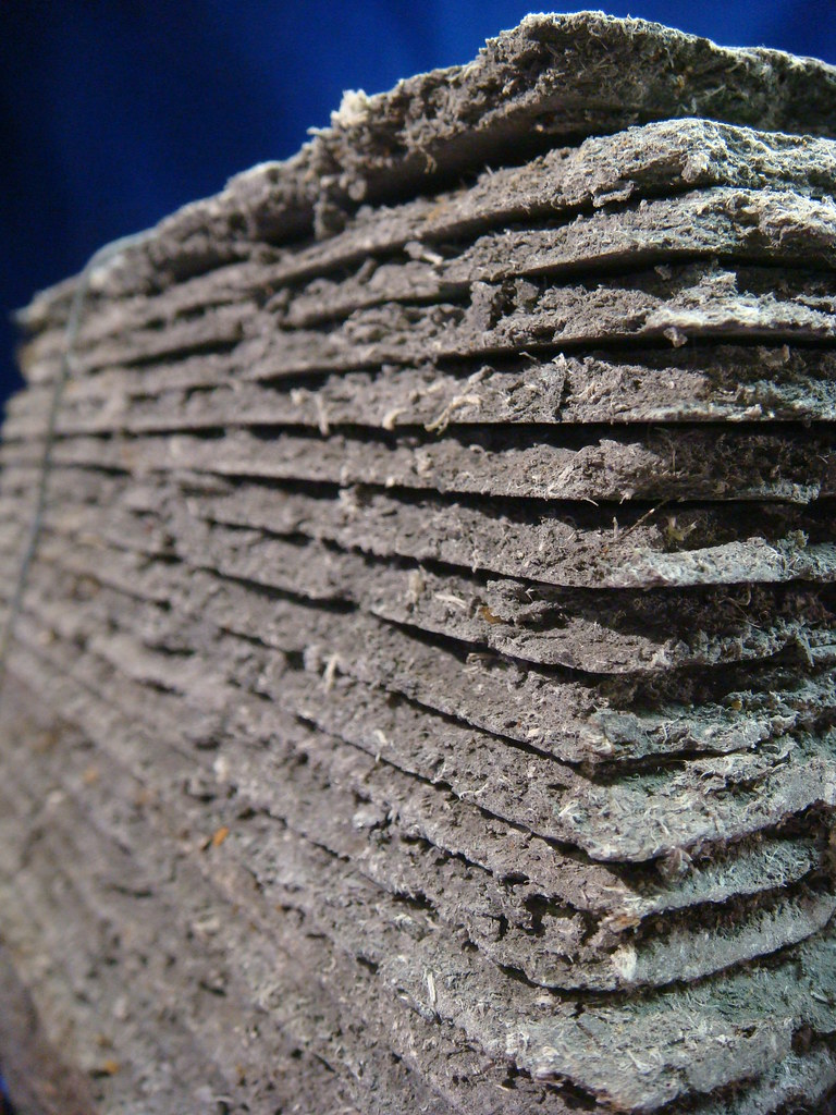Asbestos Shingles Rough Edges Stacked Asbestos Cement