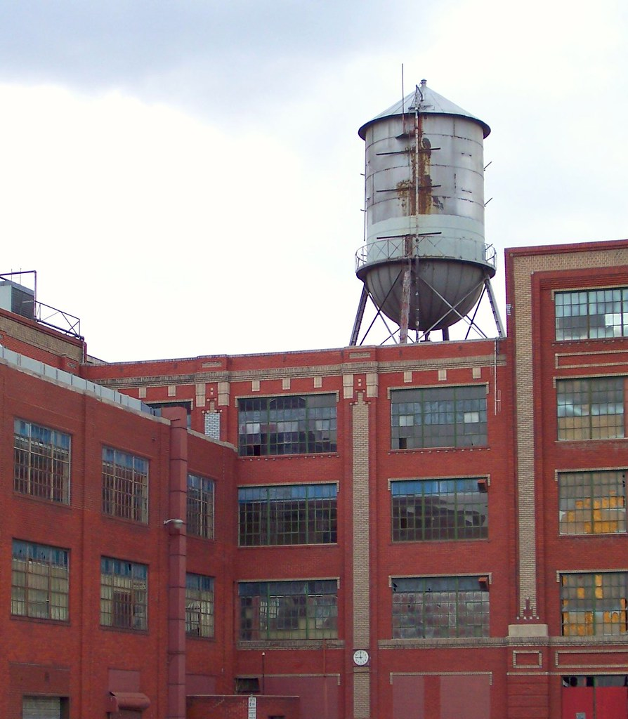 Old Water Tower Of Gates Rubber Company Denver View Of