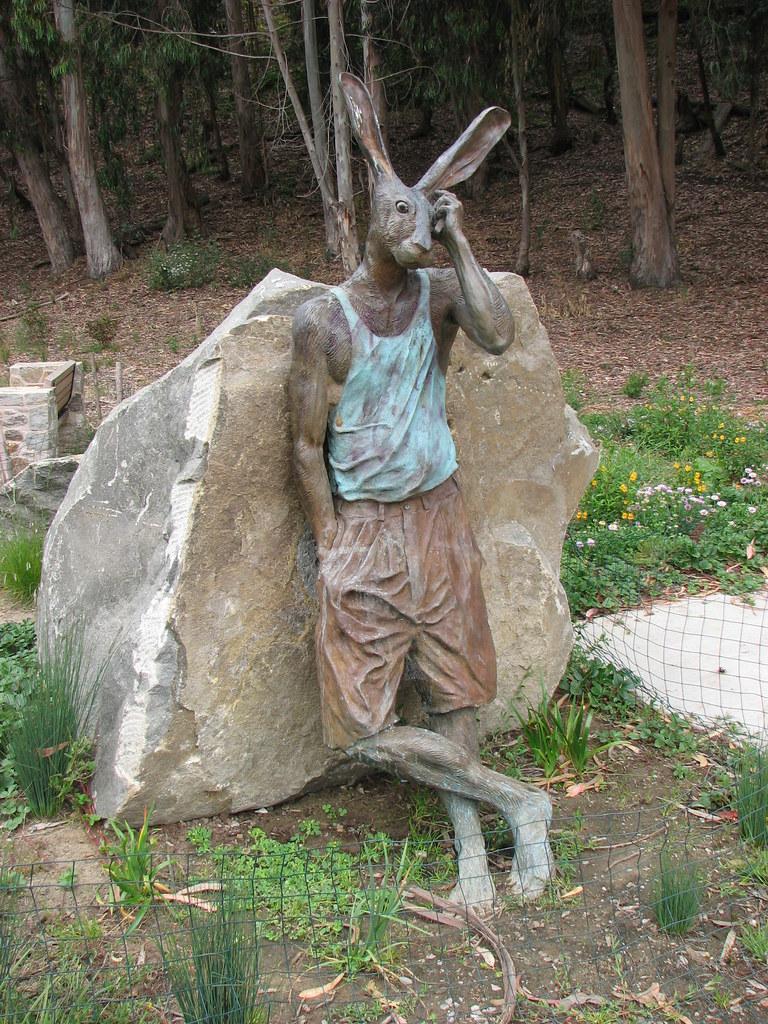 Rabbit Runner Statue Rabbinoid By Gerald Heffernon 2007