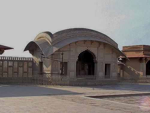 Naulakha Pavilion At Shahi Qila Lahore Pakistan April