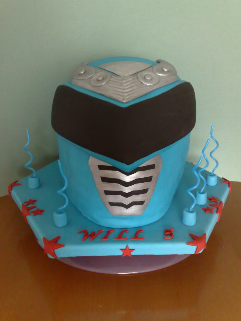 Blue Power Ranger Birthday Cake Finished The Chilling