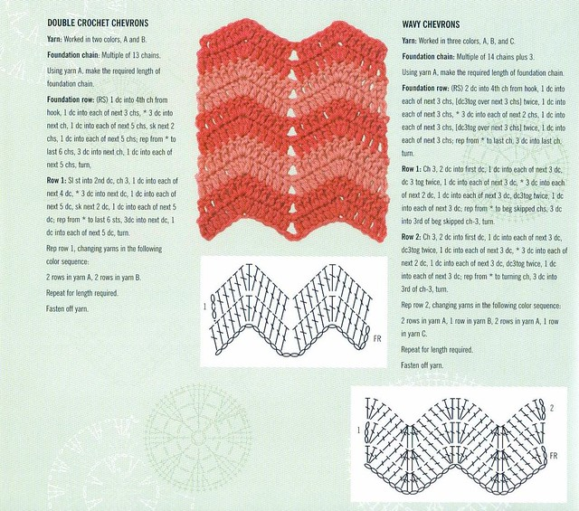 Chevron Ripple Pattern From The Encyclopedia Of Crochet Te Flickr