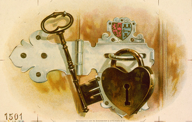 Heart Shaped Lock Tobacco Label Ca 1887 Still Life Tob Flickr