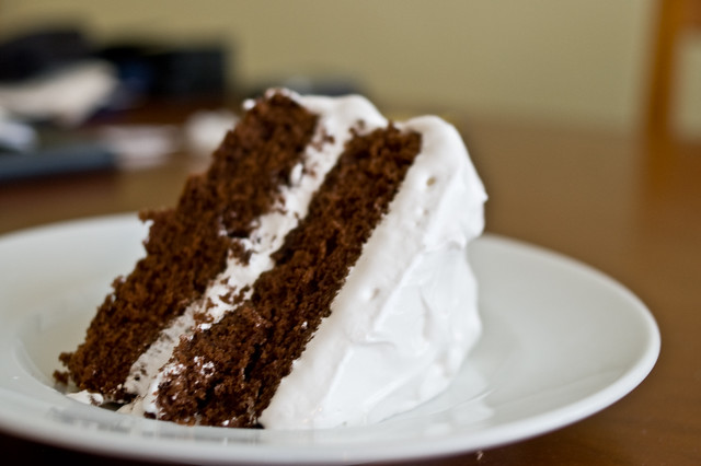 Devil's Food cake with fluffy icing | Chris Petrilli | Flickr
