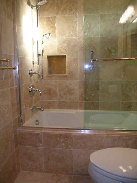 New shower remodel tacoma new jet tub remodel tacoma for Drop in bathtub shower combo