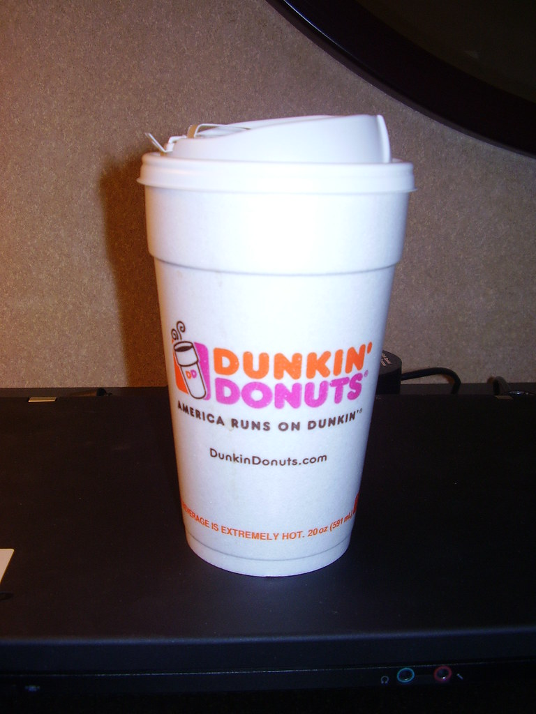 Styrofoam Cup Dunkin : Dunkin donuts more money styrofoam cup and didn t taste