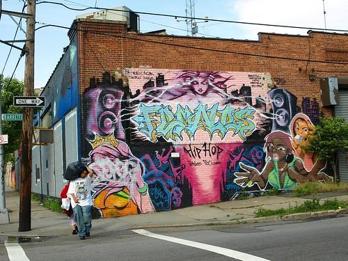Hip Hop Graffiti Mural, Hunts Point, Bronx, New York City ...