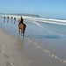 Sharon horse riding in Cape Town 2003