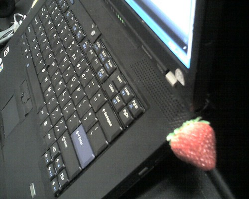Its a plastic strawberry 4gb flash drive | by libraryman