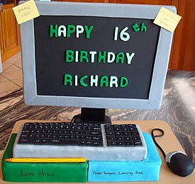 Computer Cake A Cake For My Nephew Who Is Always