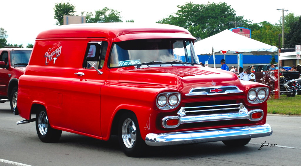 Apache Express 1959 Chevy Panel Truck Woodward Dream Cruis