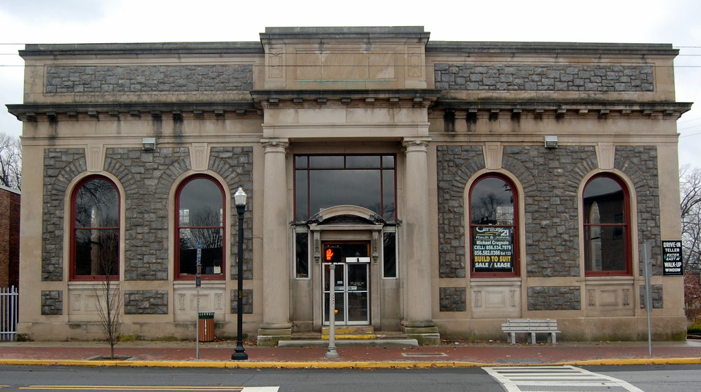 Pitman national bank building front view will sexton for Exterior view of building