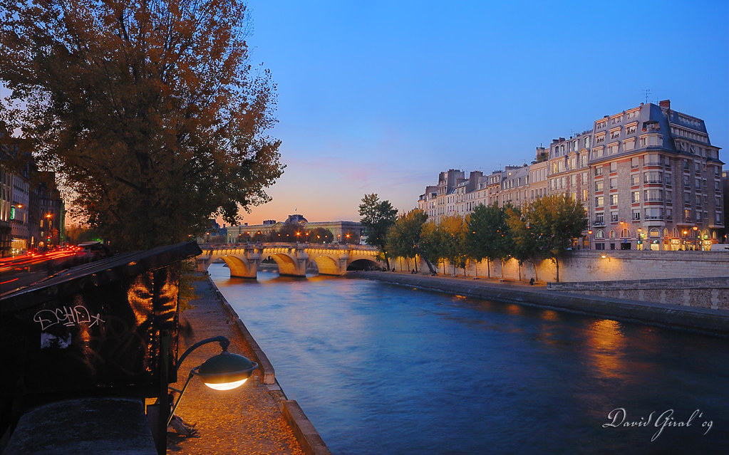 dusk on les quais de la seine dri fr cr puscule sur l flickr. Black Bedroom Furniture Sets. Home Design Ideas