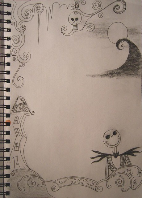 TNBC sketch 1 | A Nightmare Before Christmas themed doodle ...