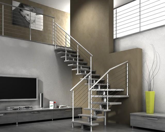 Scale scala a giorno modulare in legno e metallo per int flickr - Prezzi scale a giorno ...